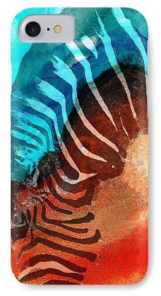 Zebra Love - Art By Sharon Cummings IPhone Case by Sharon Cummings