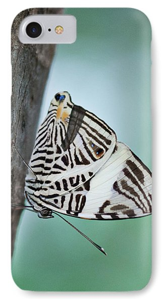 Zebra Mosiac Butterfly Phone Case by Zoe Ferrie