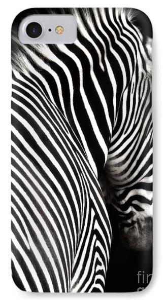 Zebra On Black Phone Case by Elle Arden Walby