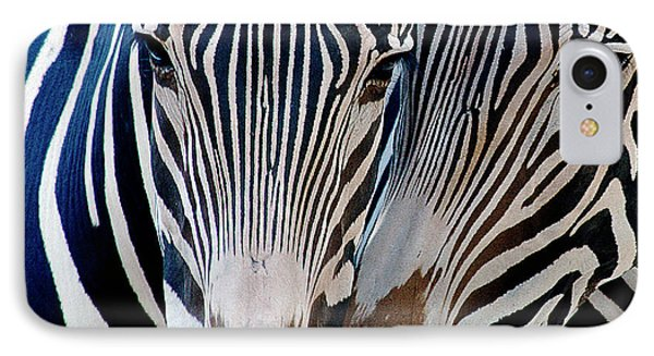 Zebra Pattern IPhone Case by Sue Cullumber