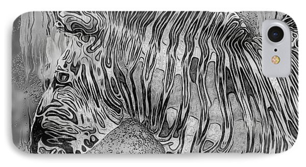 Zebra - Rainy Day Series IPhone Case by Jack Zulli