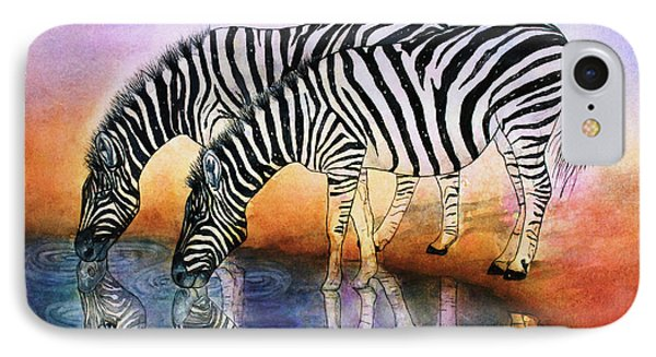 Zebra Reflections IPhone Case by Janet Immordino
