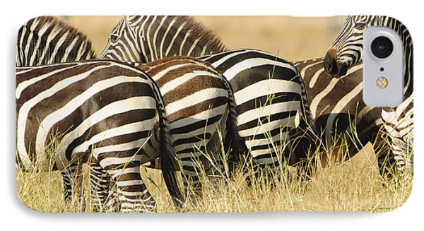 IPhone Case featuring the photograph Zebra Stripes by Phyllis Peterson