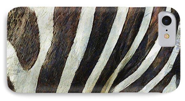 Zebra Texture Phone Case by Ayse Deniz