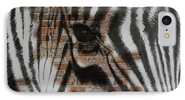 Zebra Wall IPhone Case by Michelle Wolff