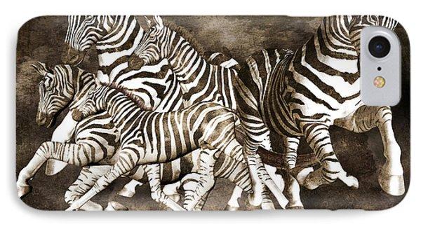 Zebras IPhone Case by Betsy Knapp