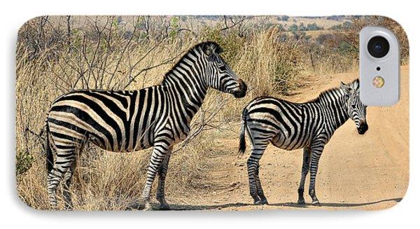 Zebras Crossing IPhone Case by Kim Andelkovic