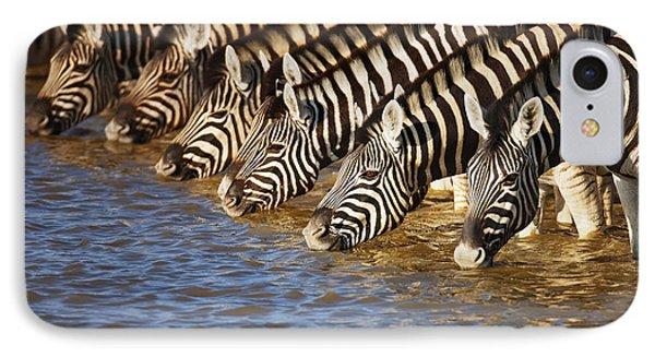 Zebras Drinking Phone Case by Johan Swanepoel
