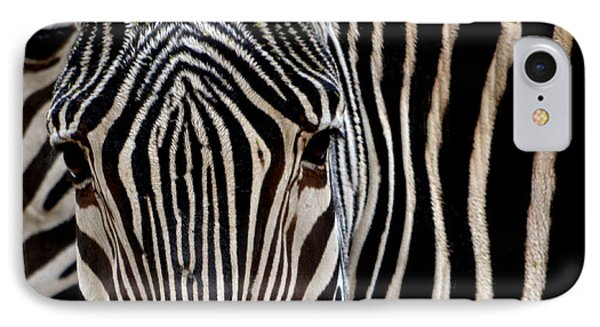 Zebras Face To Face IPhone Case by Nadalyn Larsen