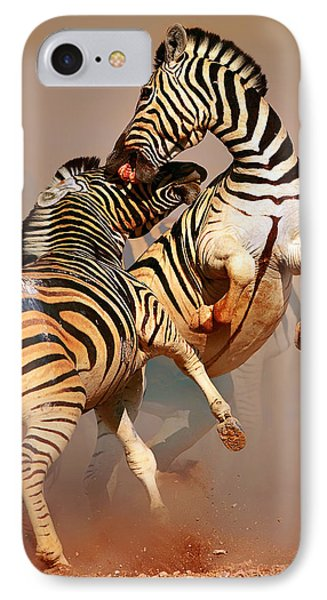Zebras Fighting IPhone Case
