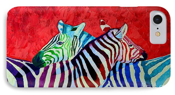 Zebras In Love  Phone Case by Ana Maria Edulescu