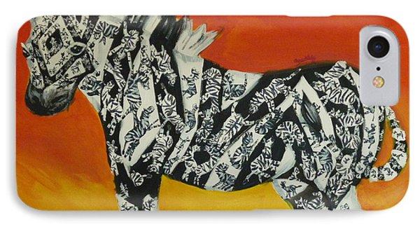 Zebras In Stripes IPhone Case by Cassandra Buckley