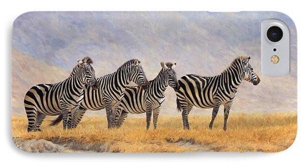 Zebras Ngorongoro Crater IPhone Case by David Stribbling