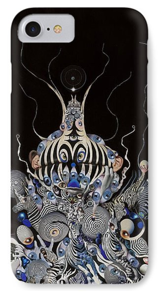 IPhone Case featuring the mixed media Zebratiki by Douglas Fromm
