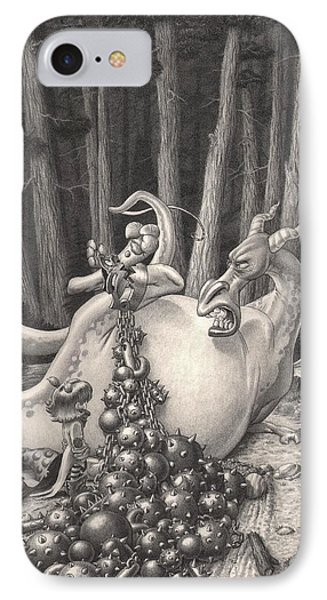 Zelma And The Not-quite-a-dragon IPhone Case by Richard Moore