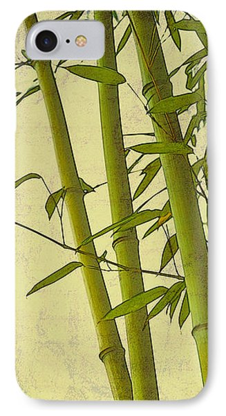 Zen Bamboo Abstract I IPhone Case by Marianne Campolongo