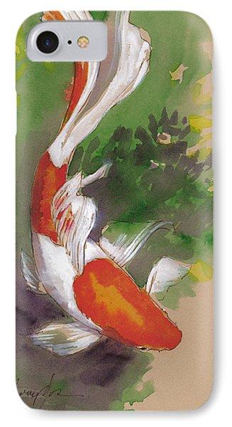 Zen Comet Goldfish IPhone 7 Case by Tracie Thompson