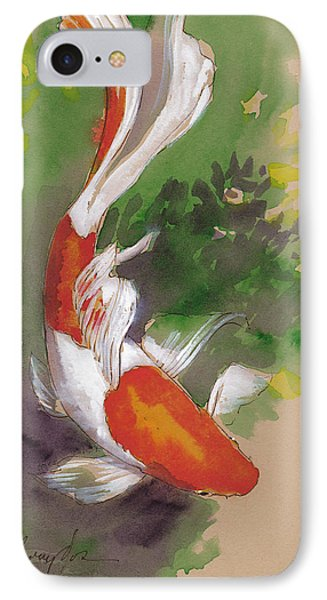 Zen Comet Goldfish IPhone Case by Tracie Thompson