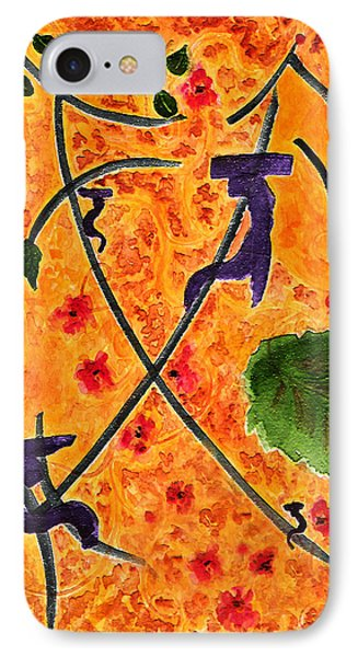 IPhone Case featuring the painting Zen Garden by Paula Ayers