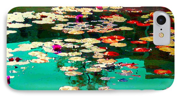 Zen Garden Water Lilies Pond Serenity And Beauty Lily Pads At The Lake Waterscene Art Carole Spandau IPhone Case by Carole Spandau