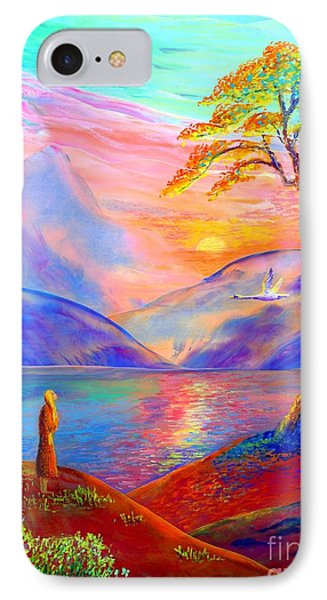 Flying Swan, Zen Moment IPhone Case