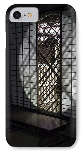 Zen Temple Window - Kyoto IPhone Case by Daniel Hagerman