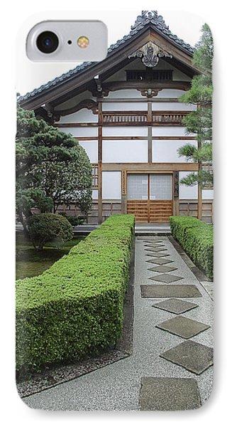 Zen Walkway - Kyoto Japan IPhone Case by Daniel Hagerman