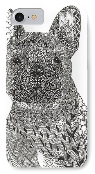 Zentangle Inspired French Bull Dog IPhone Case