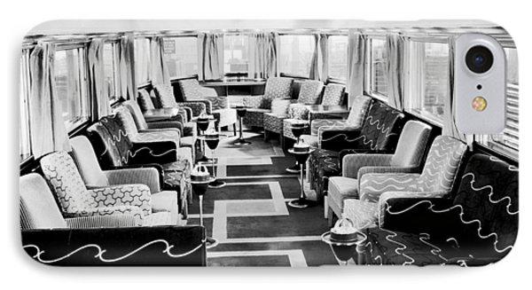 Zephyr Art Deco Lounge Car IPhone Case