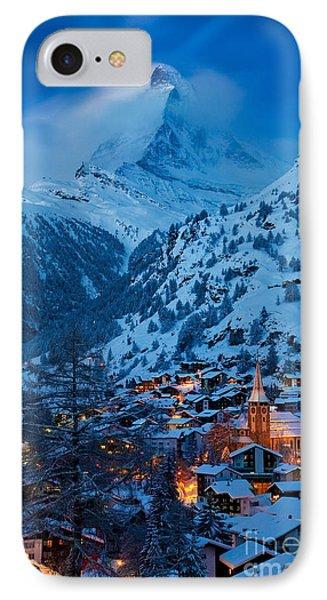 Zermatt - Winter's Night Phone Case by Brian Jannsen