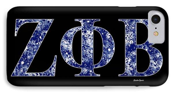 Zeta Phi Beta - Black IPhone Case by Stephen Younts