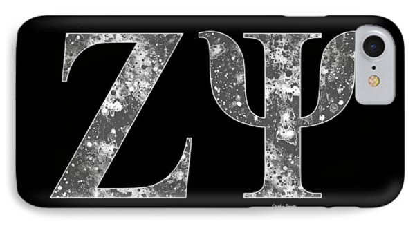 Zeta Psi - Black IPhone Case by Stephen Younts