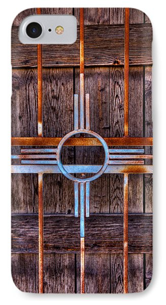 Zia Sun Symbol Gate Phone Case by David Patterson