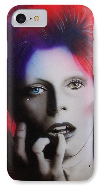Celebrities iPhone 7 Case - Ziggy Stardust by Christian Chapman Art