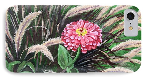 Zinnia Among The Grasses IPhone Case