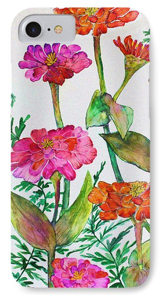 Zinnia And Ferns IPhone Case
