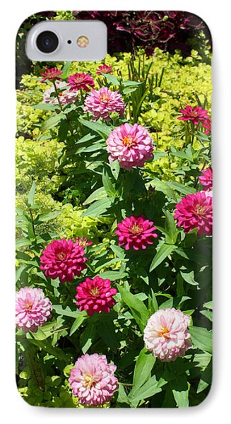 IPhone Case featuring the photograph Zinnia Garden by Ellen Tully