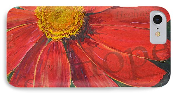 IPhone Case featuring the painting Zinnia Of Hope by Lisa Fiedler Jaworski