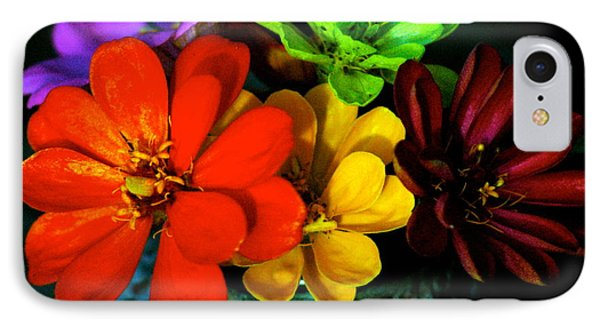 IPhone Case featuring the photograph Zinnias by Lehua Pekelo-Stearns