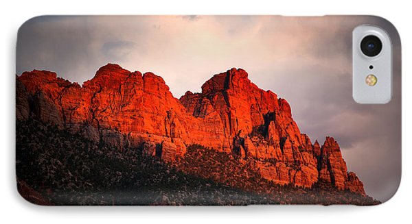Zion At Sunset IPhone Case by Jane Rix