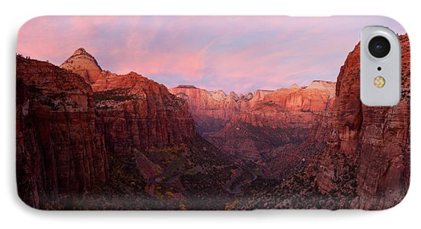 Zion Canyon At Sunset, Zion National IPhone Case