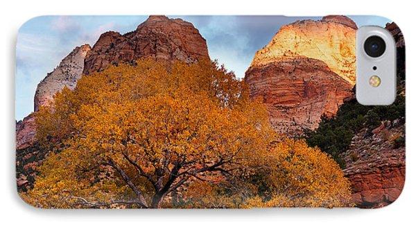 Zion Cliffs Autumn IPhone Case by Leland D Howard