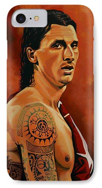 Zlatan Ibrahimovic Painting IPhone 7 Case by Paul Meijering