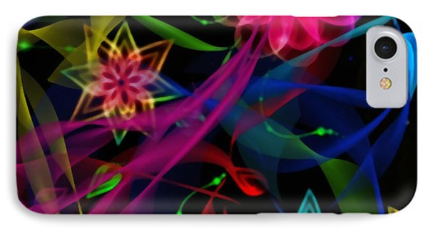 IPhone Case featuring the digital art Zodiac Flowers by Gayle Price Thomas