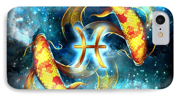 Zodiac Pisces IPhone Case by Ciro Marchetti