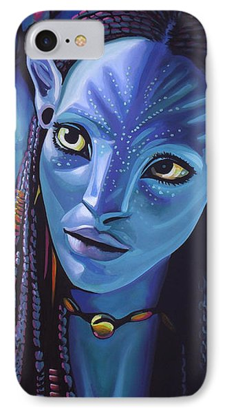 Zoe Saldana As Neytiri In Avatar IPhone Case by Paul Meijering
