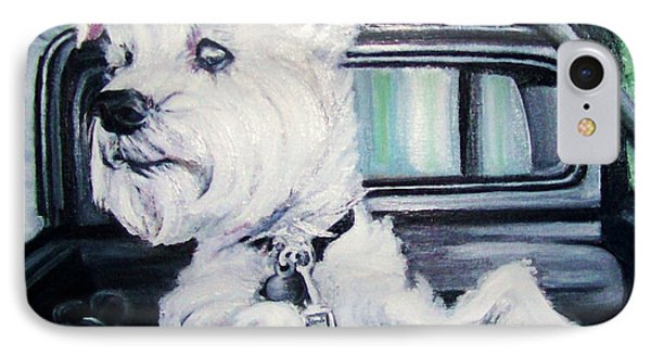 Zoey Waits For A Ride IPhone Case by Martha Suhocke