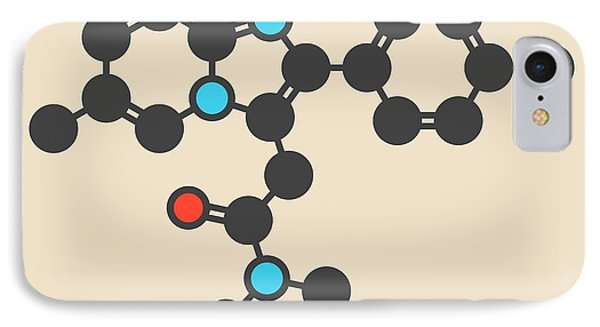 Zolpidem Insomnia Drug Molecule IPhone Case by Molekuul
