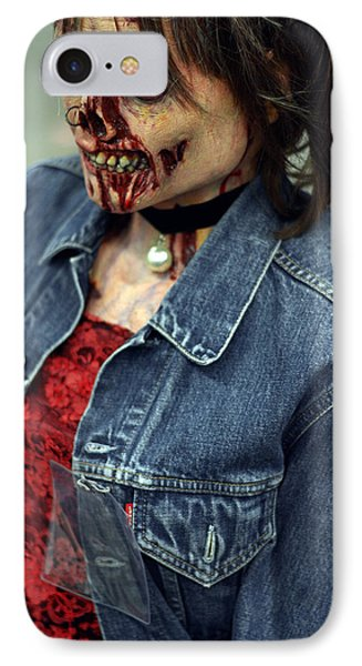 Carmen Zombie Face IPhone Case by Tommytechno Sweden