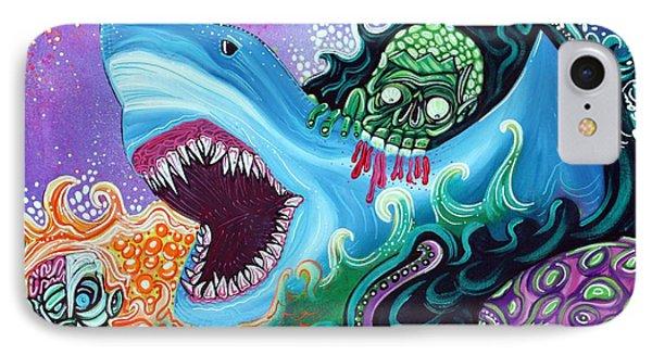 Zombie Handfishin Phone Case by Laura Barbosa